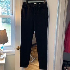 Jessica Simpson black high-rise skinny jeans